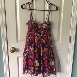 Xhilaration Floral Dress w/tie in back Size Medium